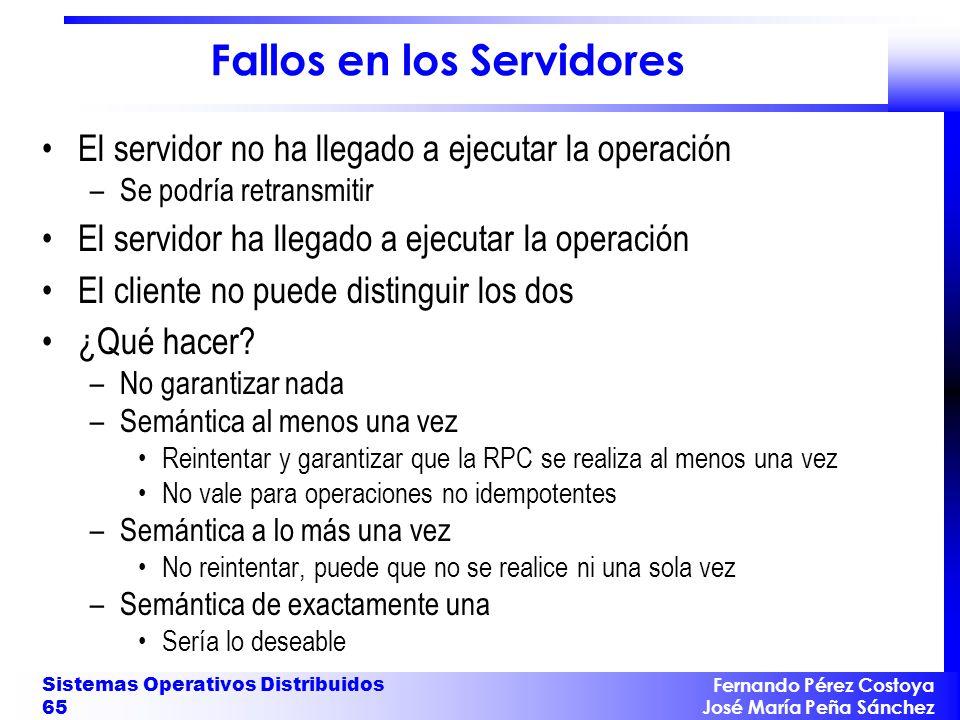 Fallos en los Servidores