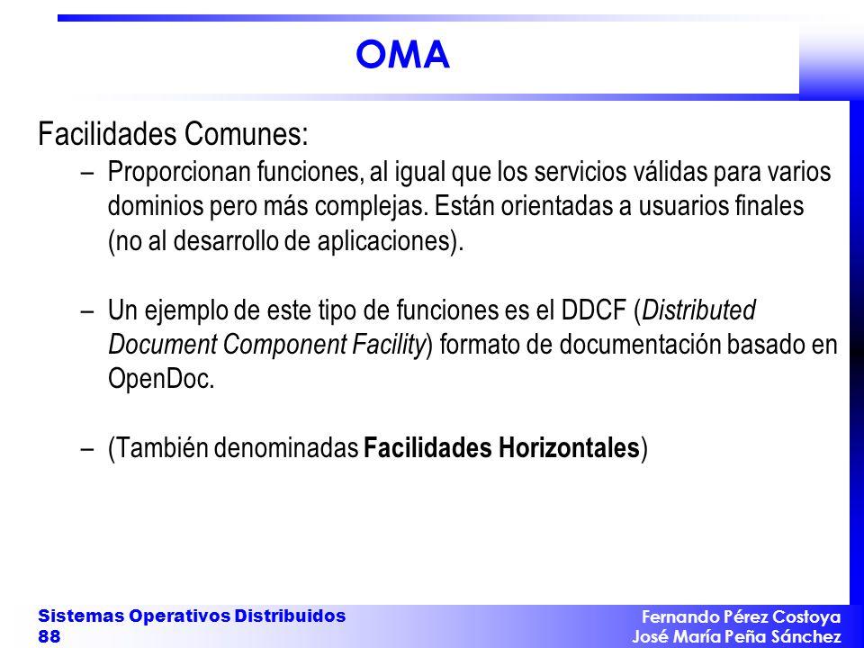 OMA Facilidades Comunes: