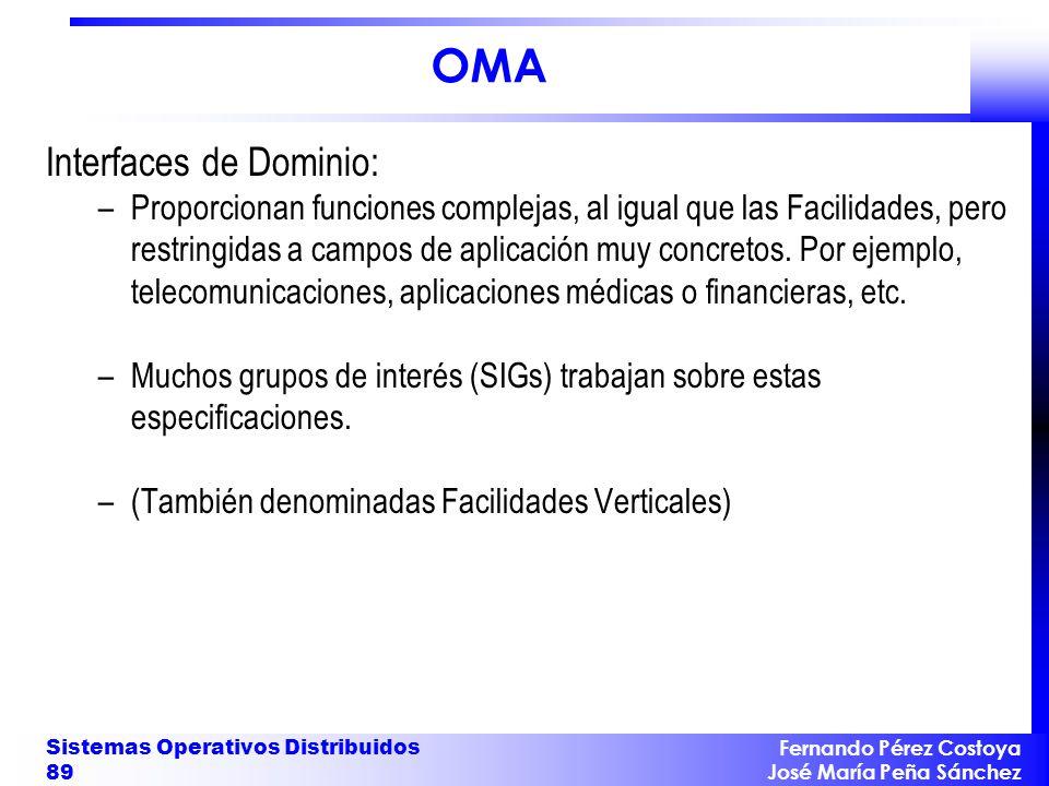 OMA Interfaces de Dominio:
