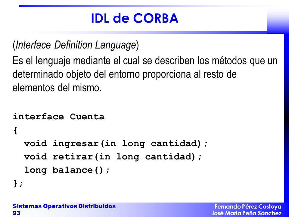 IDL de CORBA (Interface Definition Language)