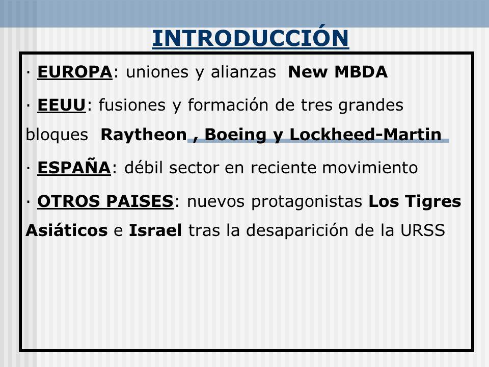 INTRODUCCIÓN · EUROPA: uniones y alianzas New MBDA