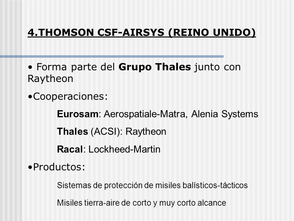4.THOMSON CSF-AIRSYS (REINO UNIDO)