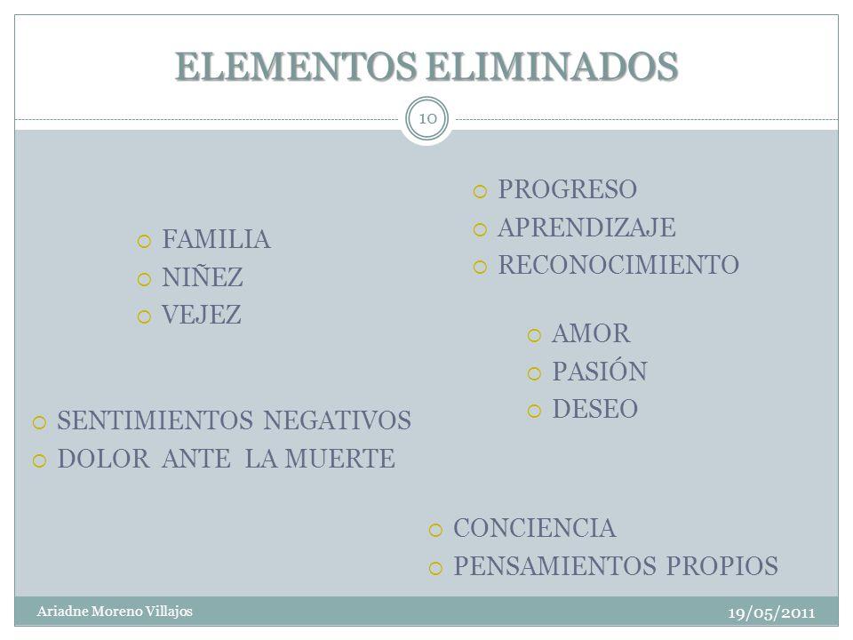 ELEMENTOS ELIMINADOS PROGRESO APRENDIZAJE RECONOCIMIENTO FAMILIA NIÑEZ