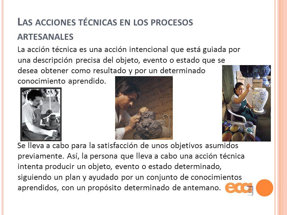 Las acciones técnicas en los procesos artesanales
