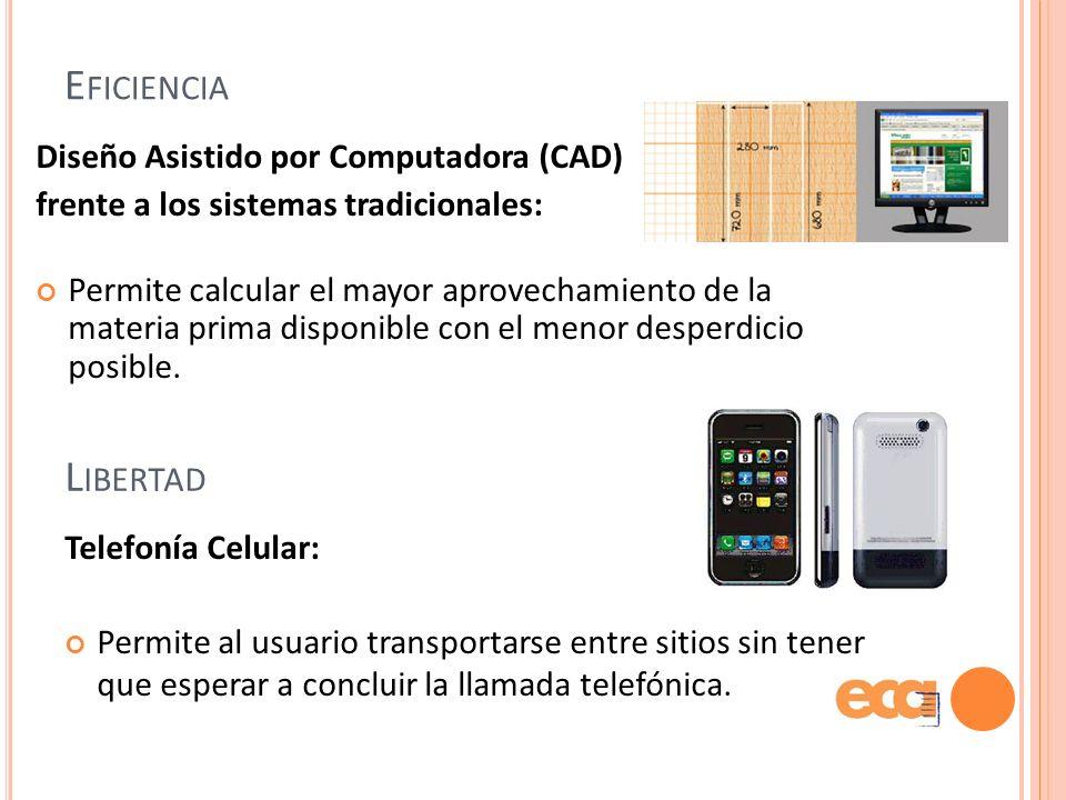 Eficiencia Libertad Diseño Asistido por Computadora (CAD)
