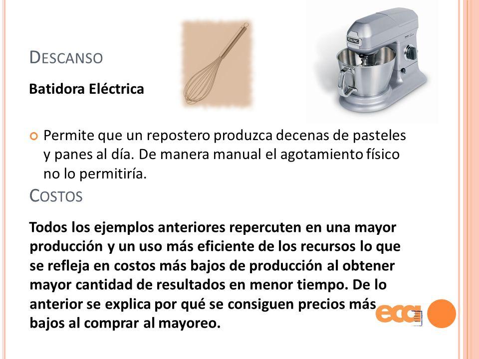 Descanso Costos Batidora Eléctrica