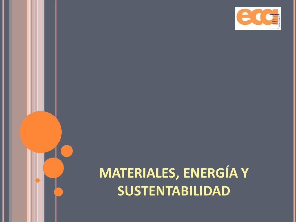 MATERIALES, ENERGÍA Y SUSTENTABILIDAD