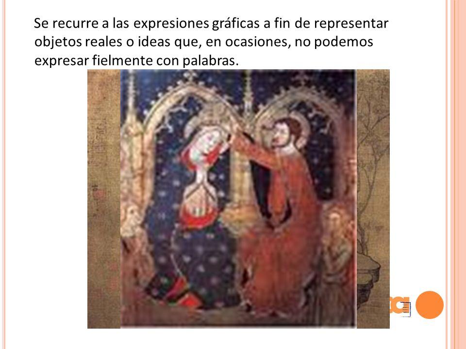 Se recurre a las expresiones gráficas a fin de representar objetos reales o ideas que, en ocasiones, no podemos expresar fielmente con palabras.