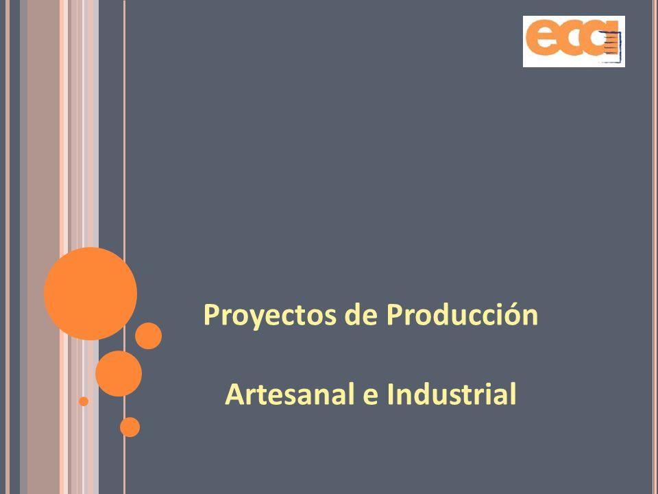 Proyectos de Producción Artesanal e Industrial