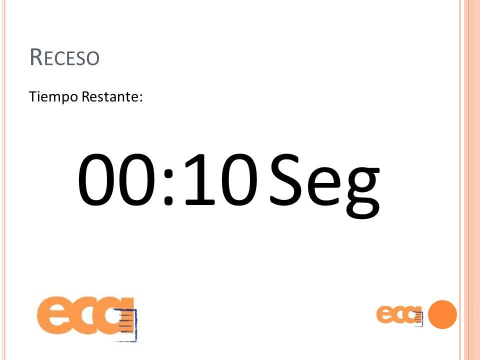 Receso Tiempo Restante: 00:10 Seg