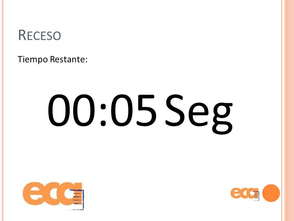 Receso Tiempo Restante: 00:05 Seg