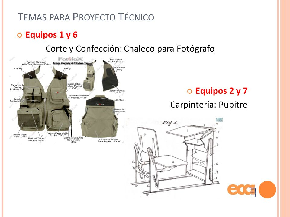 Temas para Proyecto Técnico