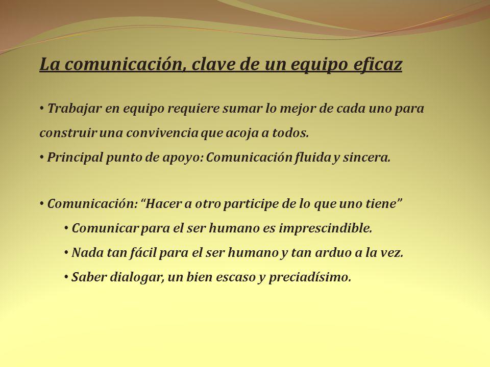 La comunicación, clave de un equipo eficaz