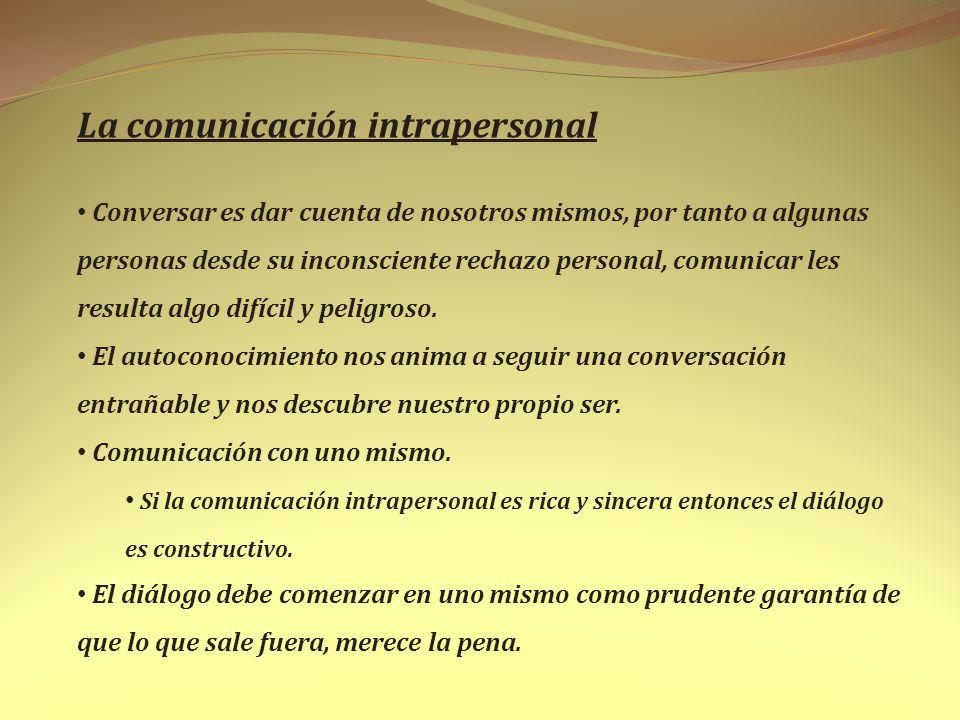 La comunicación intrapersonal