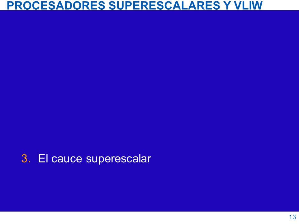 PROCESADORES SUPERESCALARES Y VLIW