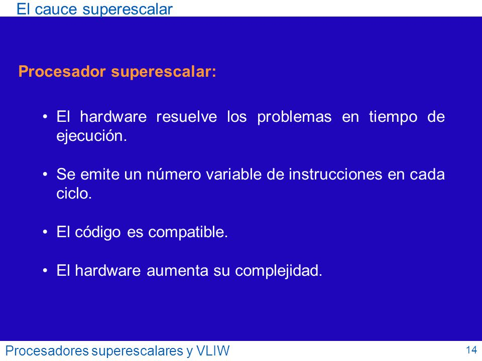 Procesador superescalar: