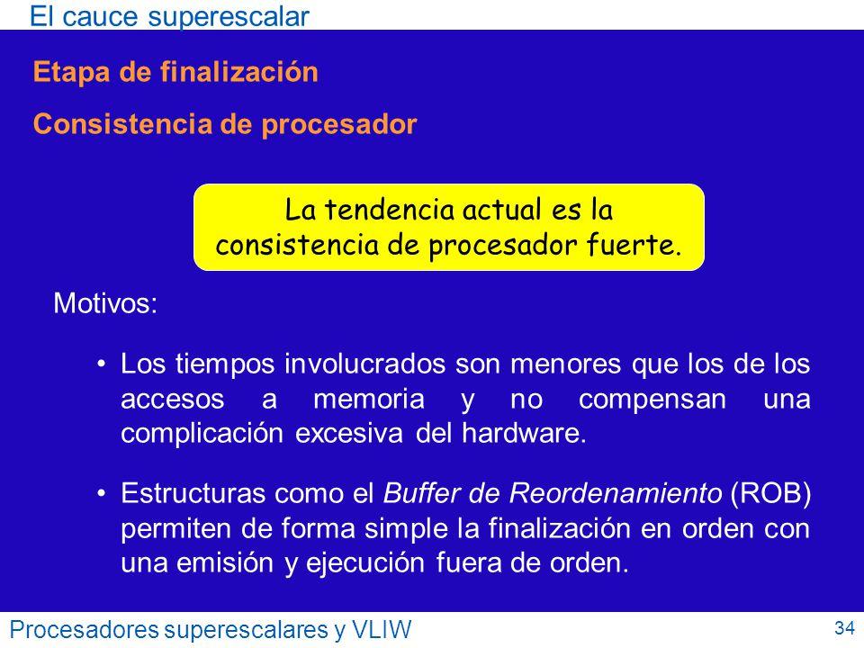 Consistencia de procesador