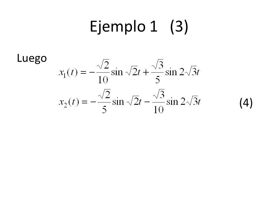 Ejemplo 1 (3) Luego (4)
