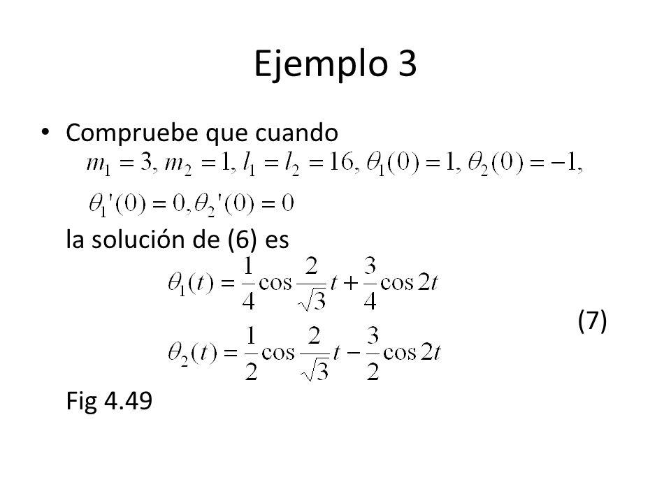 Ejemplo 3 Compruebe que cuando la solución de (6) es (7) Fig 4.49