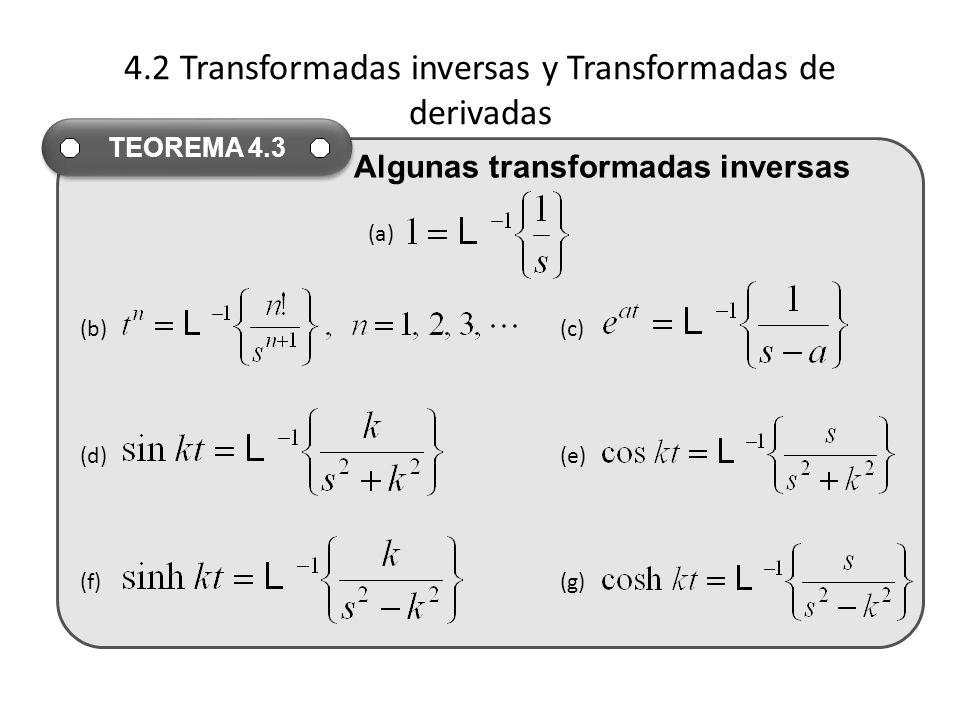 4.2 Transformadas inversas y Transformadas de derivadas
