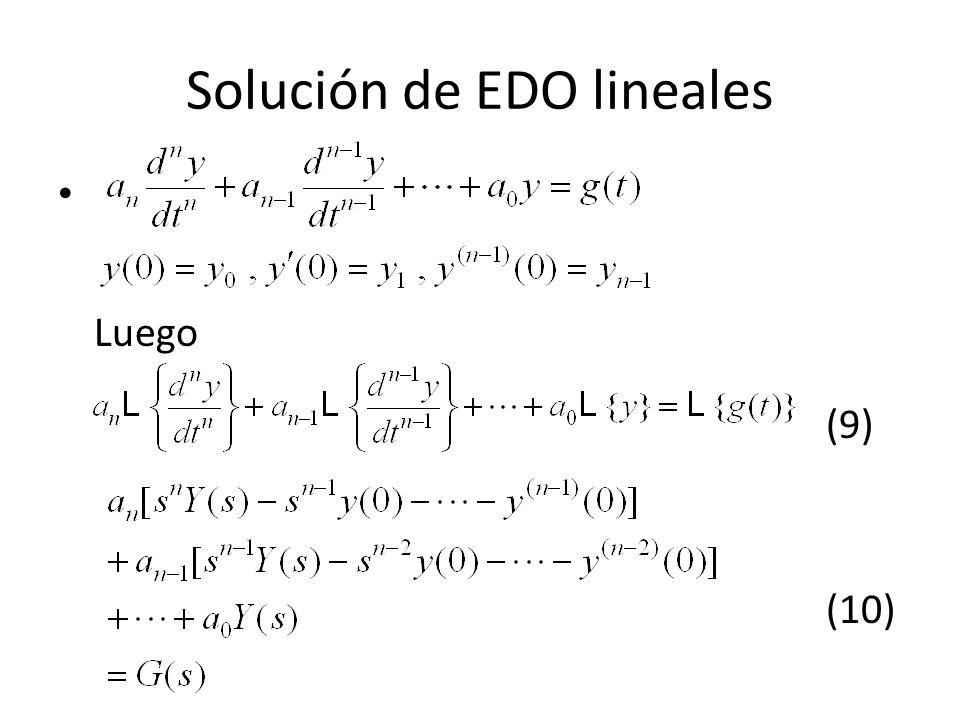 Solución de EDO lineales
