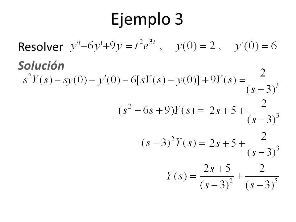 Ejemplo 3 Resolver Solución
