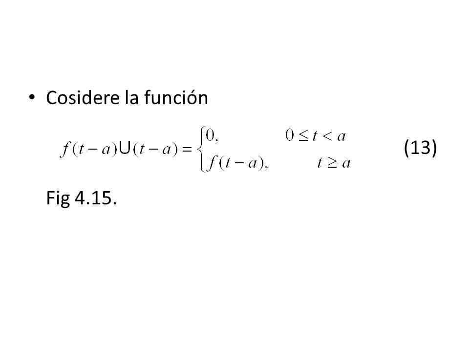 Cosidere la función (13) Fig 4.15.