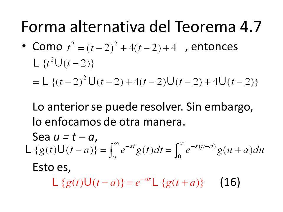 Forma alternativa del Teorema 4.7