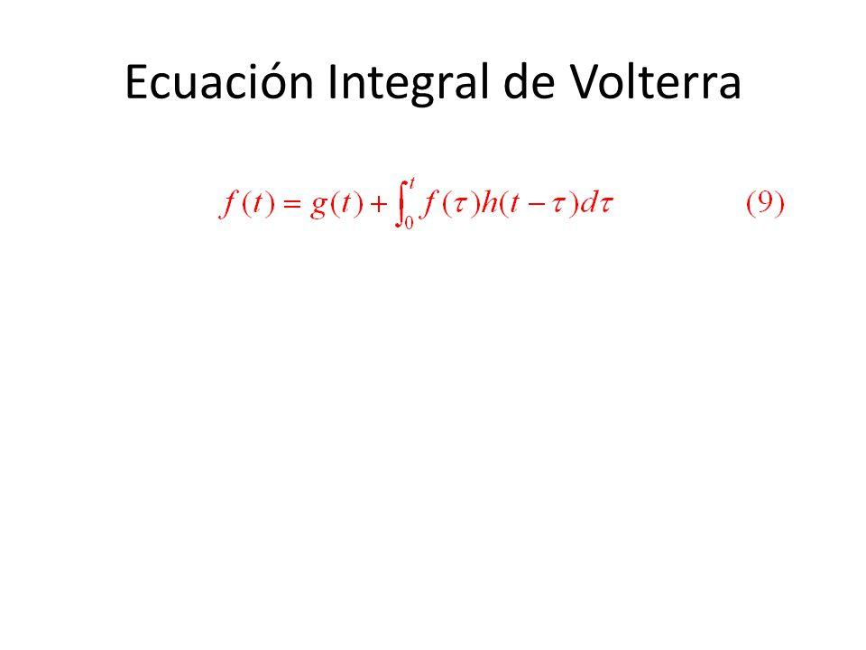 Ecuación Integral de Volterra