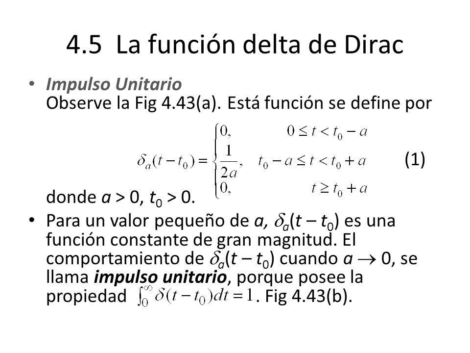 4.5 La función delta de Dirac