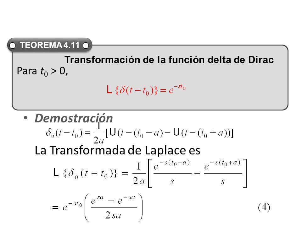 Demostración La Transformada de Laplace es