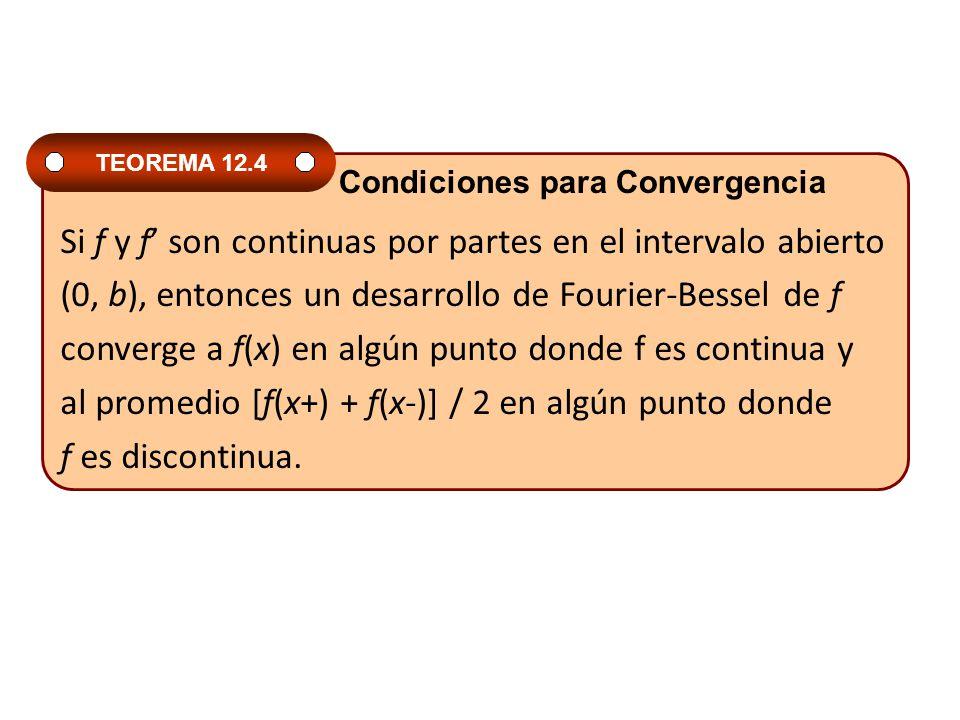 Si f y f' son continuas por partes en el intervalo abierto