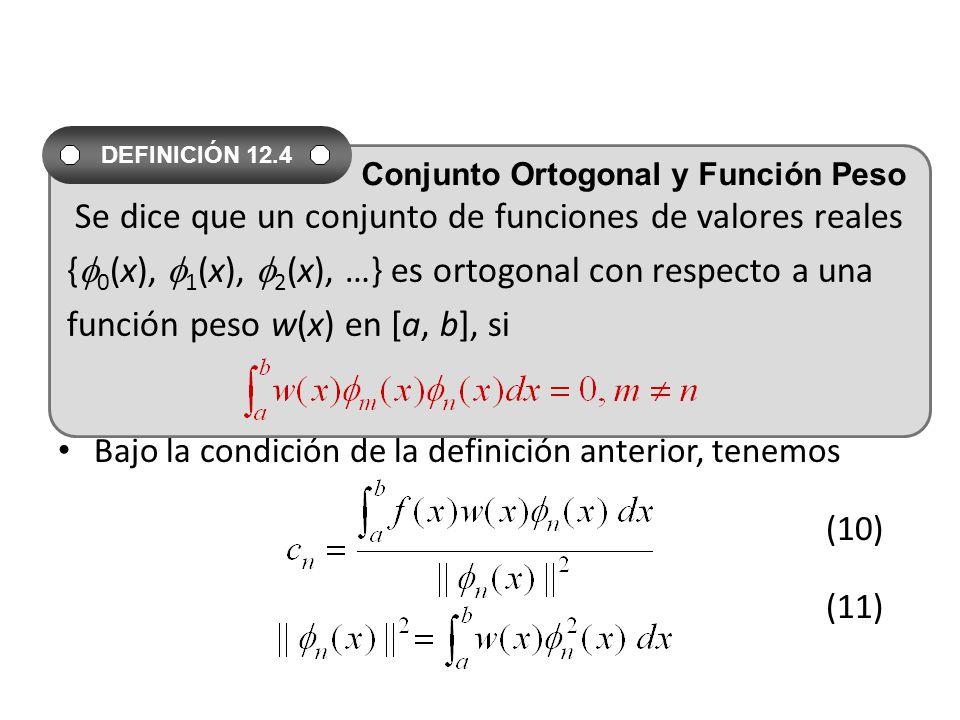 Se dice que un conjunto de funciones de valores reales