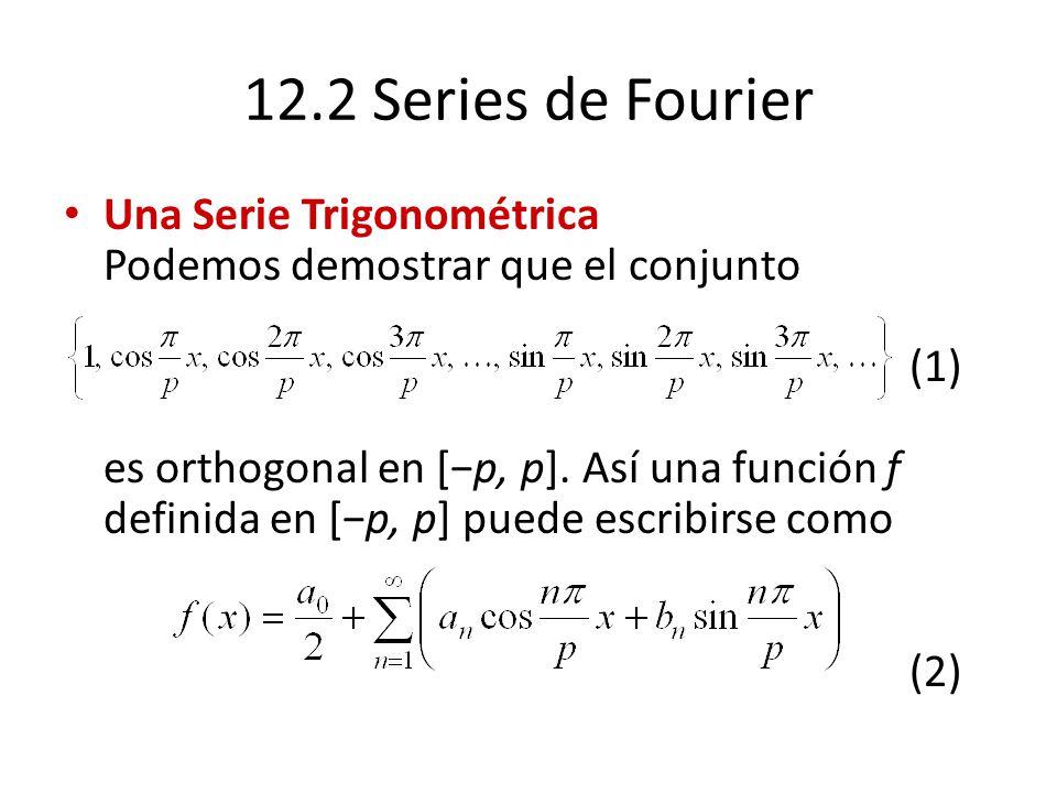 12.2 Series de Fourier