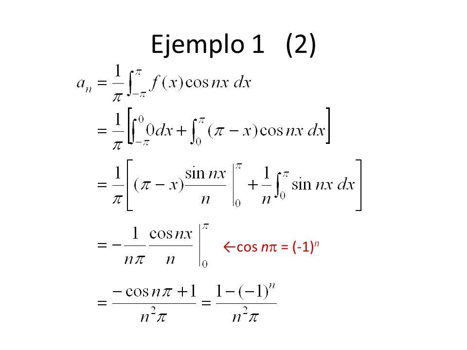 Ejemplo 1 (2) ←cos n = (-1)n