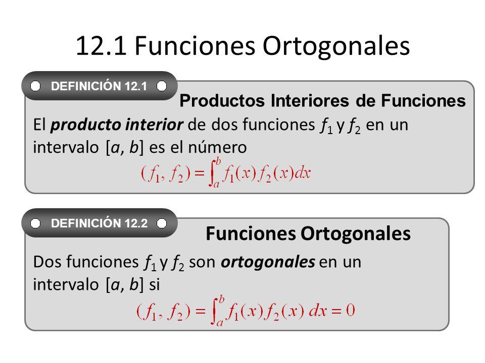 12.1 Funciones Ortogonales