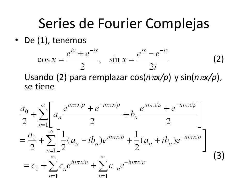 Series de Fourier Complejas