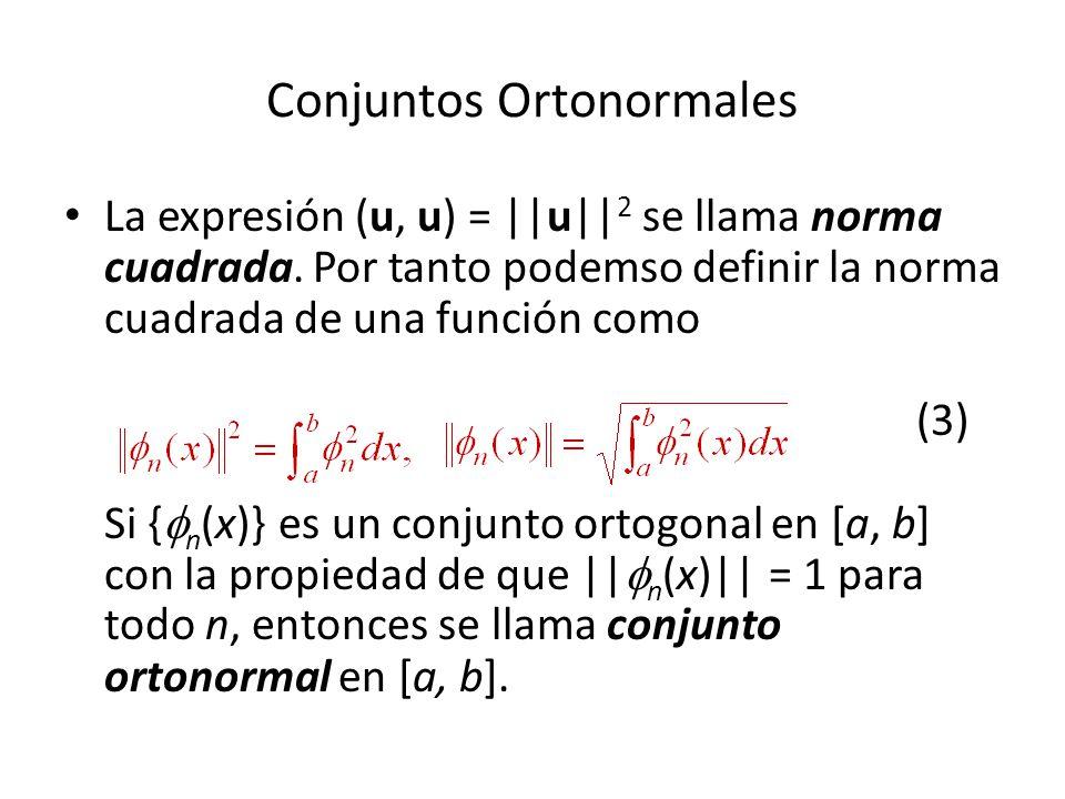 Conjuntos Ortonormales