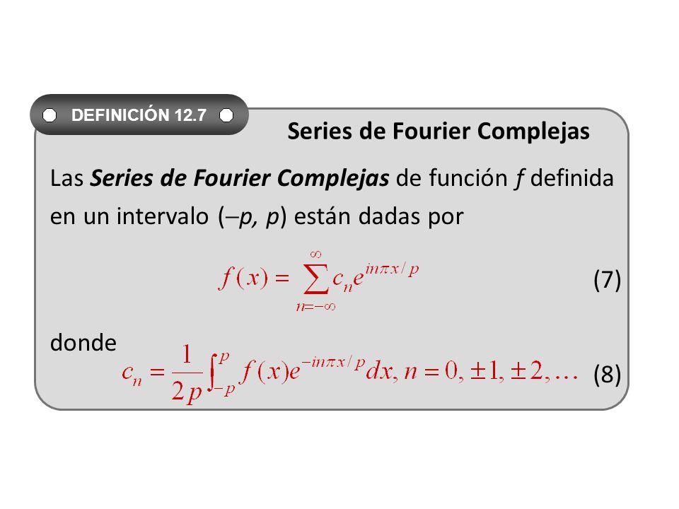 Las Series de Fourier Complejas de función f definida