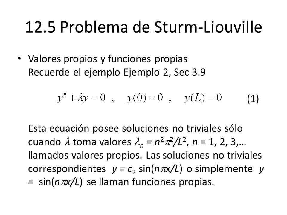 12.5 Problema de Sturm-Liouville