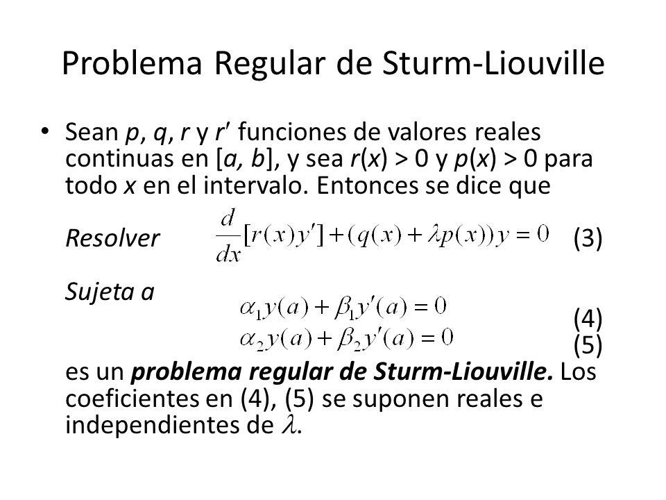 Problema Regular de Sturm-Liouville