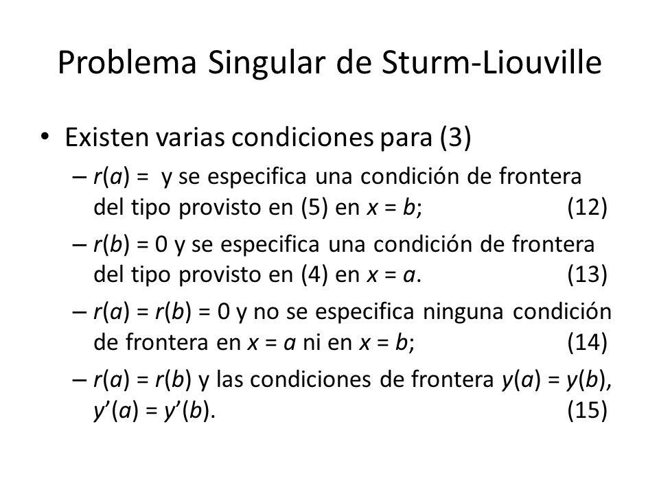 Problema Singular de Sturm-Liouville