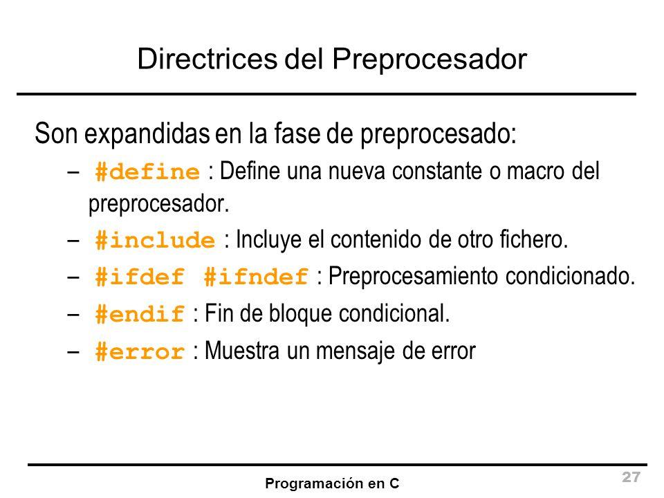 Directrices del Preprocesador