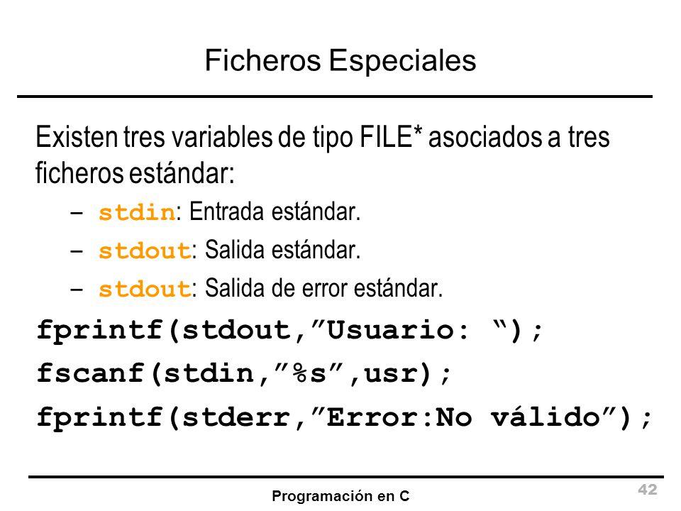 fprintf(stdout, Usuario: ); fscanf(stdin, %s ,usr);