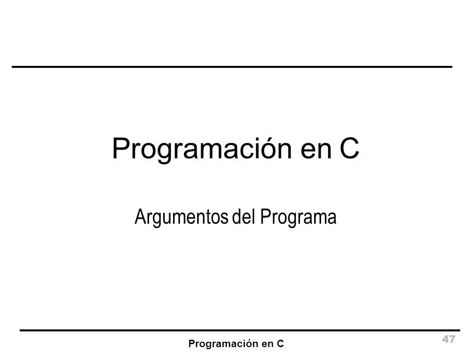 Argumentos del Programa