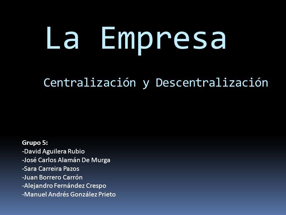 La Empresa Centralización y Descentralización