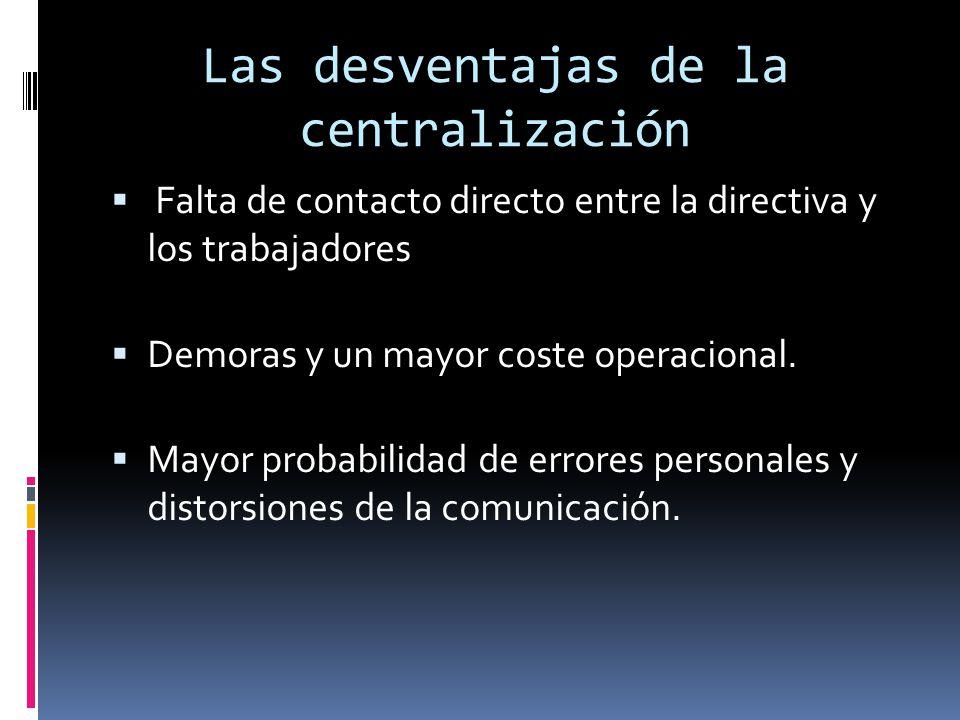 Las desventajas de la centralización
