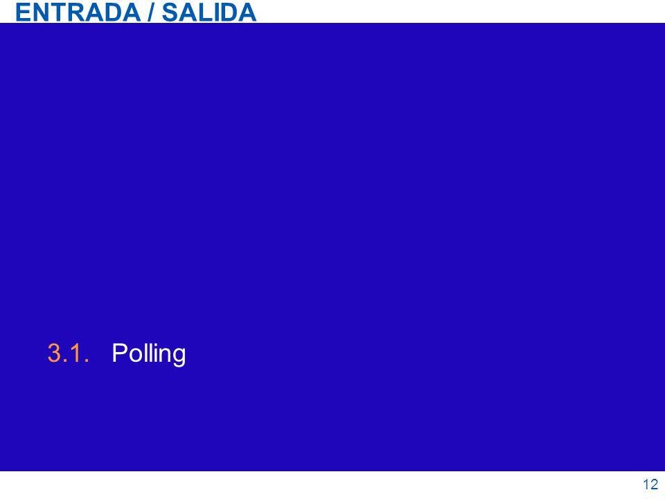 ENTRADA / SALIDA 3.1. Polling 12 12