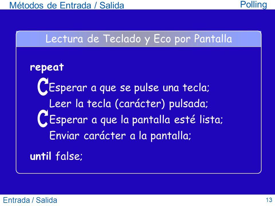 Lectura de Teclado y Eco por Pantalla