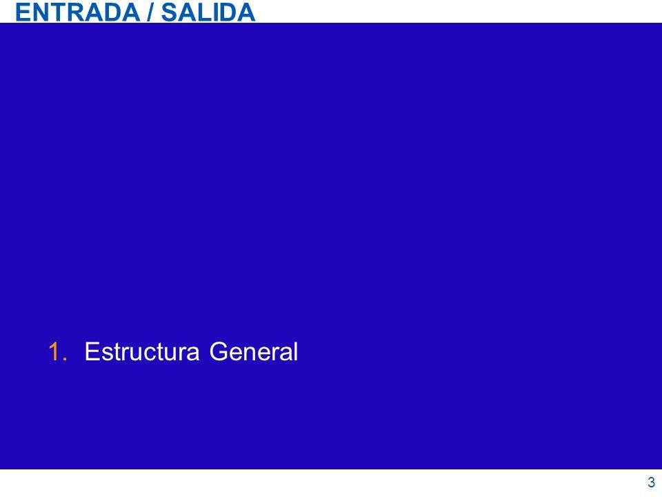 ENTRADA / SALIDA Estructura General 3 3